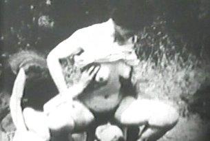 Vintage porno trójkąt